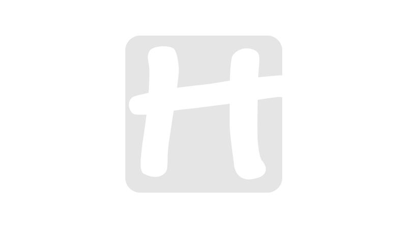 Huishoudhandschoen gevlokt blauw mt 8-8,5 m
