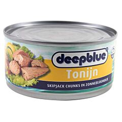 Deep blue Tonijn chunks olie