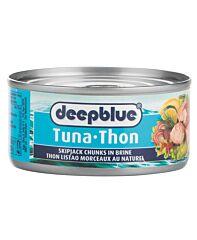 Deep blue Tonijn chunks water