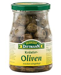 Dittmann Groene olijven gekruid zonder pit