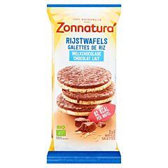 Zonnatura Chocolade rijstwafel melk bio