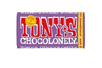 Tonys chocolonely Chocoladereep melk kaneelbiscuit