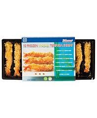 Torpedogarnalen wasabi tempura ca 25 gr diepvries