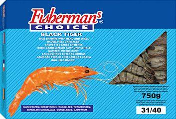 Garnaal black tiger 31/40 80% diepvries