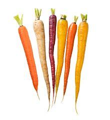 Worteltjes chantaney mix (wit, paars, oranje)