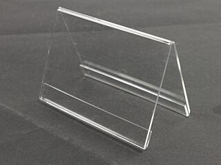 Menustandaard transparant plexiglas