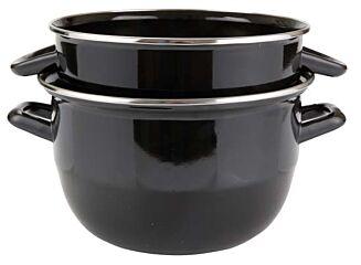 Cosy & trendy Mosselpan zwart 20 cm ± 2 kg