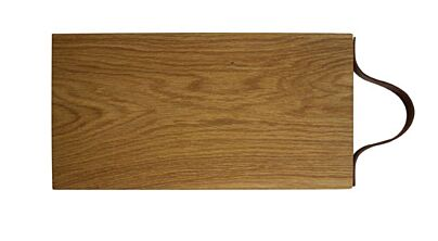 Festijnplank Eikenhouten plank+ leren handvat 40x20x2,8 cm