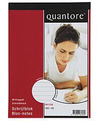 Quantore Schrijfblok a5 100 vel lijn 65 gr