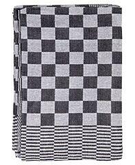 Duplex Theedoeken holland blok zwart 65x65 cm